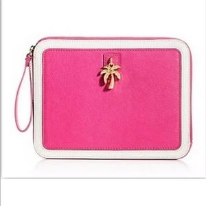 JUICY COUTURE PINK LENI CHARM IPAD ZIP CASE